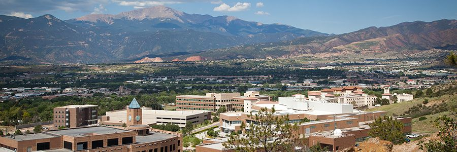 UCCS Looking down from top of mountain